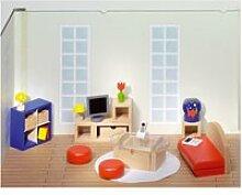 Maison de poupées : mobilier grande salle de