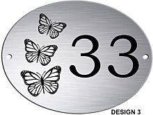 Maison ovale en Aluminium argenté, porte,