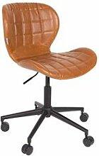 Maisonetstyles Chaise de bureau vintage en PU