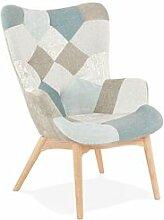 Maisonetstyles Fauteuil 67x65x93 cm en patchwork