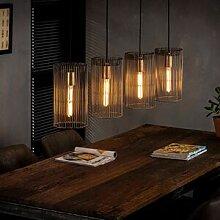 Maisonetstyles Supension 4 lampes avec abat-jour