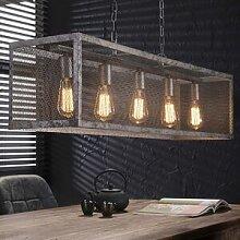 Maisonetstyles Suspension industrielle 5 ampoules