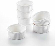 MALACASA Série Ramekin Dish, 6pcs Ramequin Moule