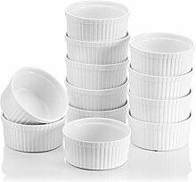 MALACASA Série Ramekin Dish, Lot 12pcs Mini