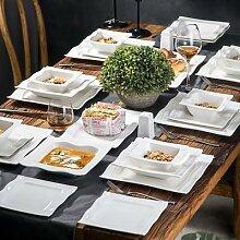 MALACASA – service de table en porcelaine de 28