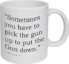 Malcolm X Tasse à café, tasse à thé, citation