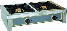 Mallard Ferriere-RECHAUD INOX 2 FEUX 5 KW + 7 KW -