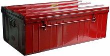 Malle de rangement en métal rouge 225 litres -