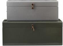 Malle Metal / Set de 2 - 60 x 36 cm - House Doctor