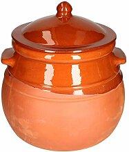 MamboCat Pot en terre cuite avec couvercle -