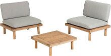 Manacas - Salon de jardin 2 fauteuils et 1 table
