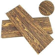 Manche de couteau en bois fait à la main, plaque