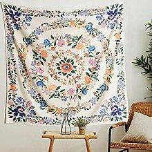 Mandala Fleur Tapisserie bohème psychédélique