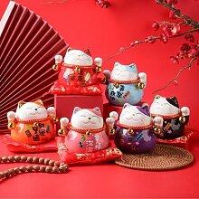 Maneki Neko – chat porte-bonheur en porcelaine,