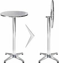 Mange debout aluminium diamètre table 60 cm