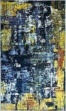 MANI TEXTILE TPS_Art_Noir_120 Tapis, Polyester,