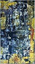 MANI TEXTILE TPS_Art_Noir_80 Tapis, Polyester, 80