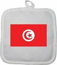 Manique gant de cuisine drapeau tunisie