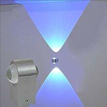 Manyao 2W / 6W LED Applique Haut et Bas Éclairage