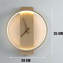 Manyao Horloge murale éclairage Led Applique