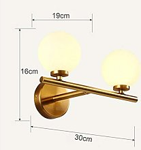 Manyao Mur LED moderne nordique Lampes en verre