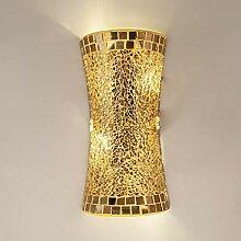 Manyao Verre Vintage Or Artesanat mur Luminaire Up
