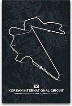 Mapsters Poster sur toile Motif carte du monde