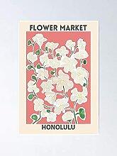 Marché des fleurs - Affiche Honolulu