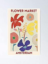 Marché fleuri - Affiche d'Amsterdams