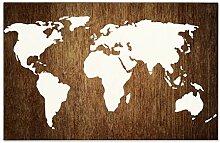 MariaCh457 W1841 Carte du monde en bois, panneau