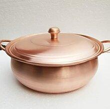 Marmite à soupe en cuivre pur, faitout en cuivre