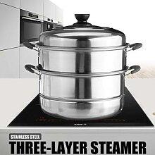 Marmite à vapeur épaisse à trois couches en