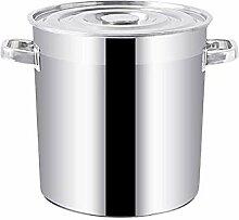 Marmite avec couvercle, en acier inoxydable Pot