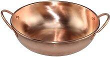Marmite binaural à gaz en cuivre épais, double