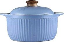 Marmite Casserole en céramique avec couvercle Pot