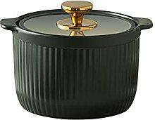 Marmite en céramique avec couvercle en verre
