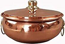 Marmite en cuivre à induction pour restaurant ou