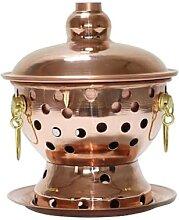 Marmite en cuivre avec cheminée 18 cm