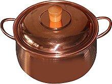 Marmite en cuivre électromagnétique épaissi -