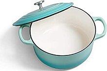 Marmite en fonte émaillée pot de soupe ménage