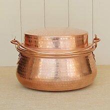 Marmite Luo en cuivre pur fait à la main - Pot à