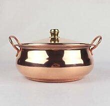 Marmite manuelle en cuivre pour soupe et soupe en