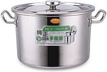 Marmite, seau à soupe domestique en acier