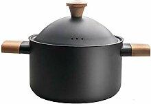 Marmite,Stock Pot, Casserole Non-bâton En Fonte,