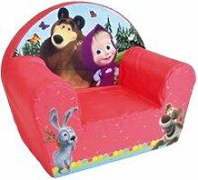 Masha et michka fauteuil club enfant