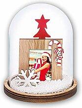Matches21 Boule à neige avec cadre photo en verre