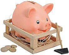 Matches21 Tirelire cochon dans un étable avec
