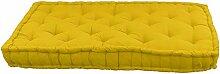 Matelas de sol Coton 60x120x15cm MOUTARDE