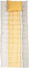 Matelas de sol en coton imprimé graphique 60x170