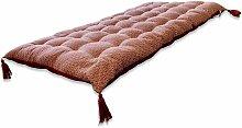 Matelas de sol réversible coton pompons 120x60cm